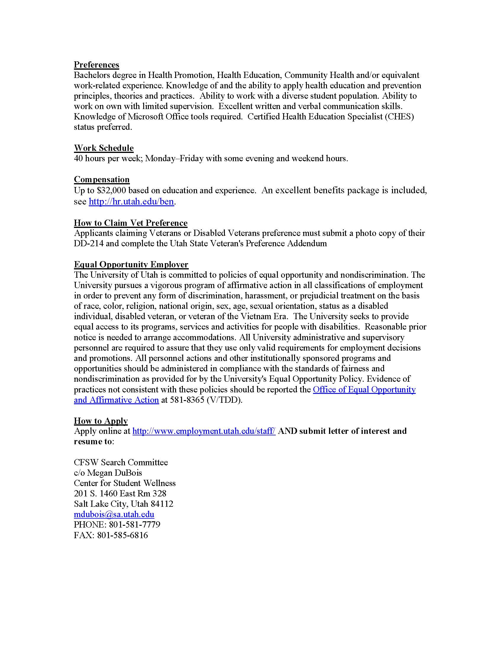 Public Health Alumni BYU Public Health – Medical Writer Job Description